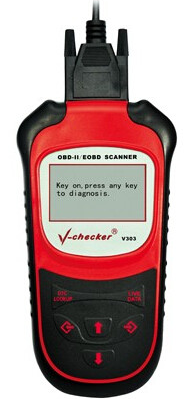 V-303-as kézi diagnosztikai műszer képe